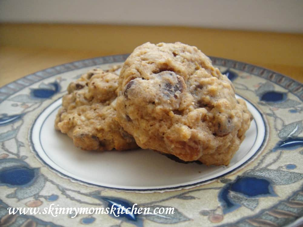 Oatmeal Breakfast Cookies With Chocolate Chips and Almonds