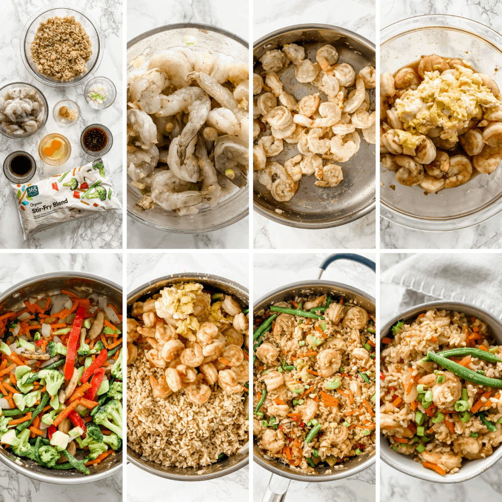 step by step how to make shrimp fried rice
