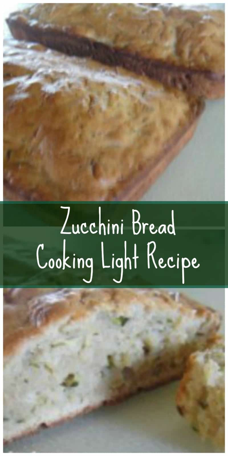 Cooking Light zucchini bread