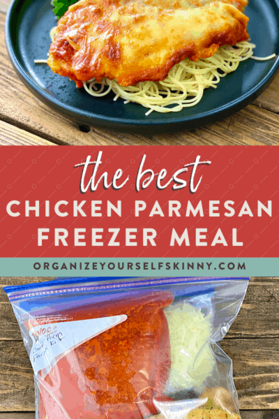 Healthy Chicken Parmesan {Freezer Meal Recipe}