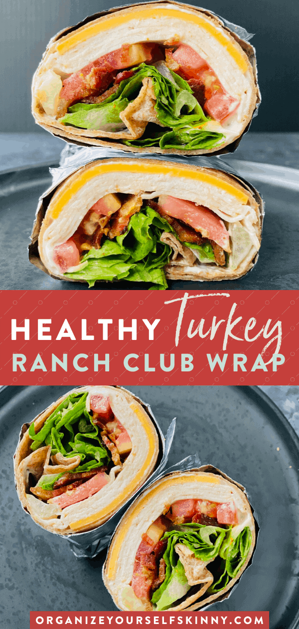Homemade Turkey Wrap With Bacon and Ranch