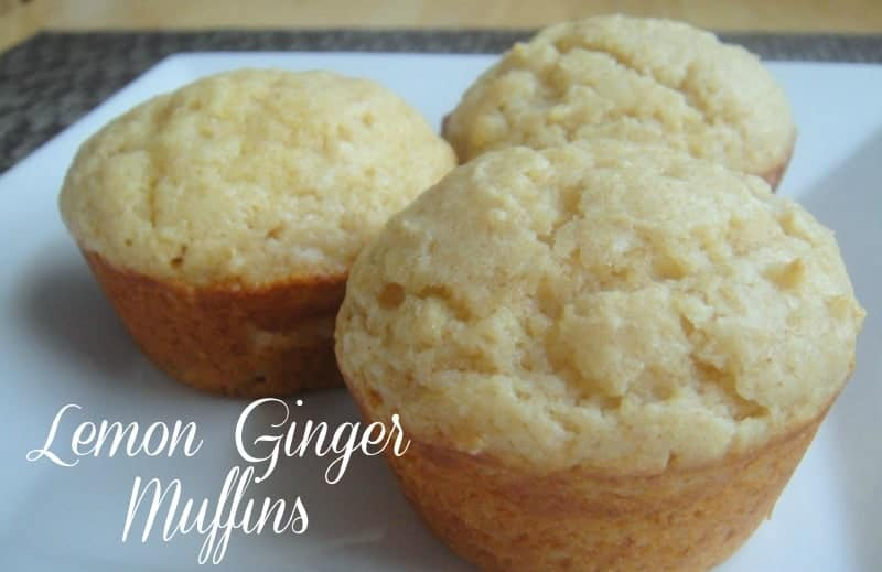Lemon and Ginger Yogurt Muffins - Organize Yourself Skinny
