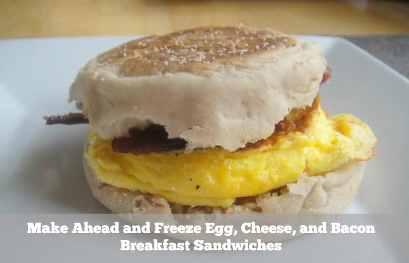 Bacon and Cheddar Breakfast Sandwich