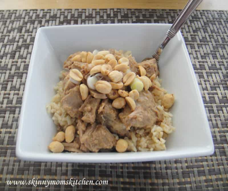 Thai Pork with Peanut Sauce: Slow Cooker Freezer Kit and Freezer Meal Recipe