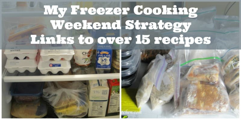 My Freezer Cooking Weekend Strategy. Links to over 15 recipes! Tips to help organize your day.