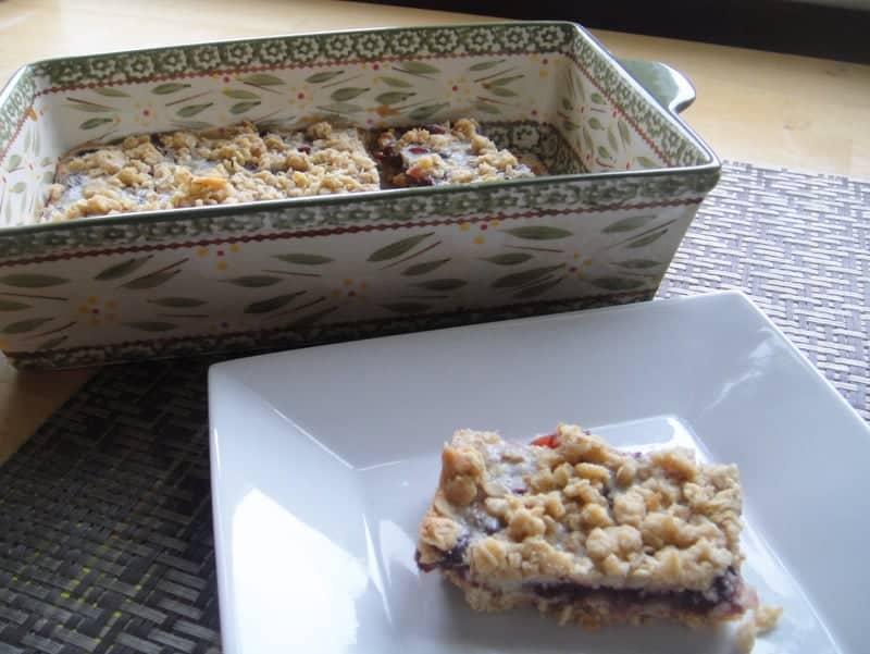 Cooking Light Recipe Cranberry Lemon Oat Bars. Freezer friendly snack