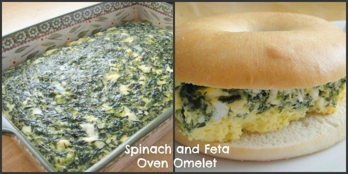Spinach and Feta Oven Omelet