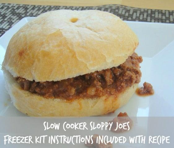 Slow Cooker Sloppy Joes. Freezer Kit Instructions