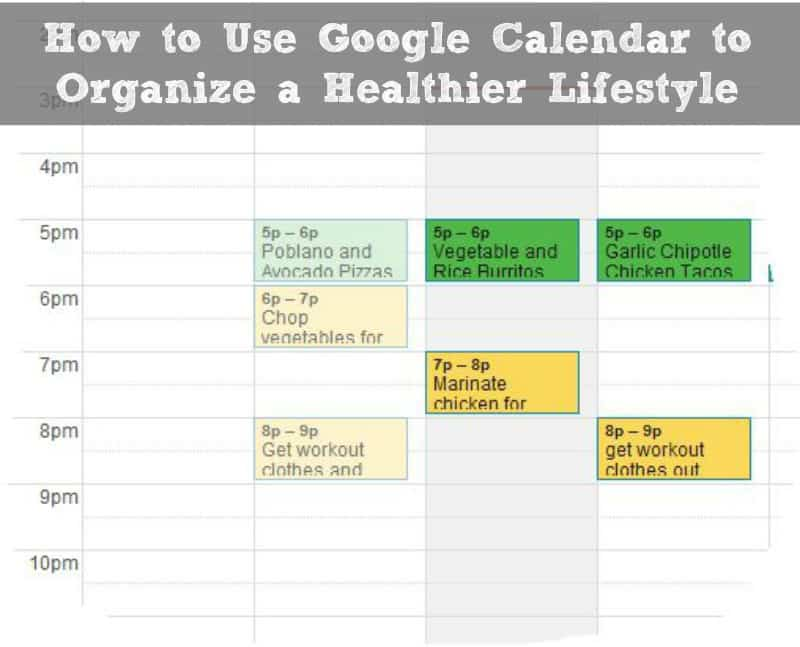 How to Use Google Calendar to Organize a Healthier Lifestyle