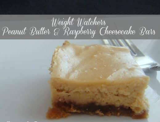 Peanut Butter and Raspberry Cheesecake Bars Weight Watchers Recipes