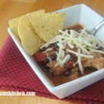 Slow Cooker Pork and Black Bean Chili