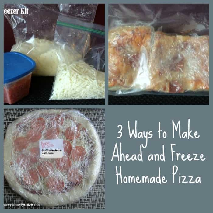 3 Ways to Make Ahead and Freeze Homemade Pizza - Organize ...