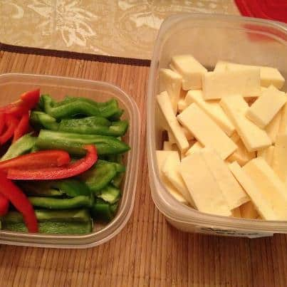 make ahead veggies and cheese