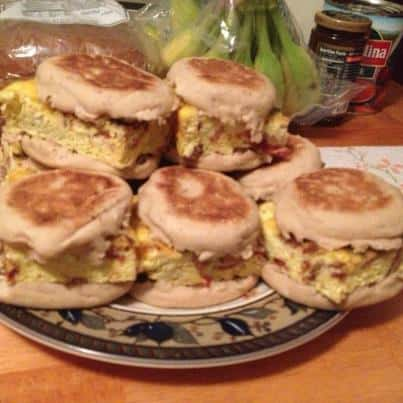 make ahead breakfast sandwich