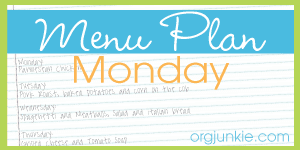 Menu Plan {June 3rd – 9th}