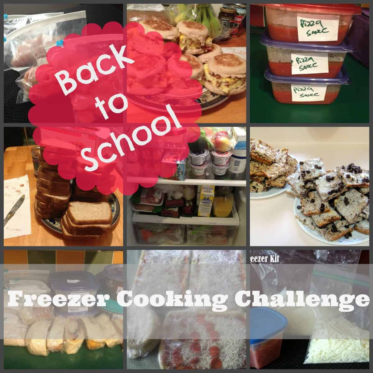 Back to School Freezer Cooking Challenge
