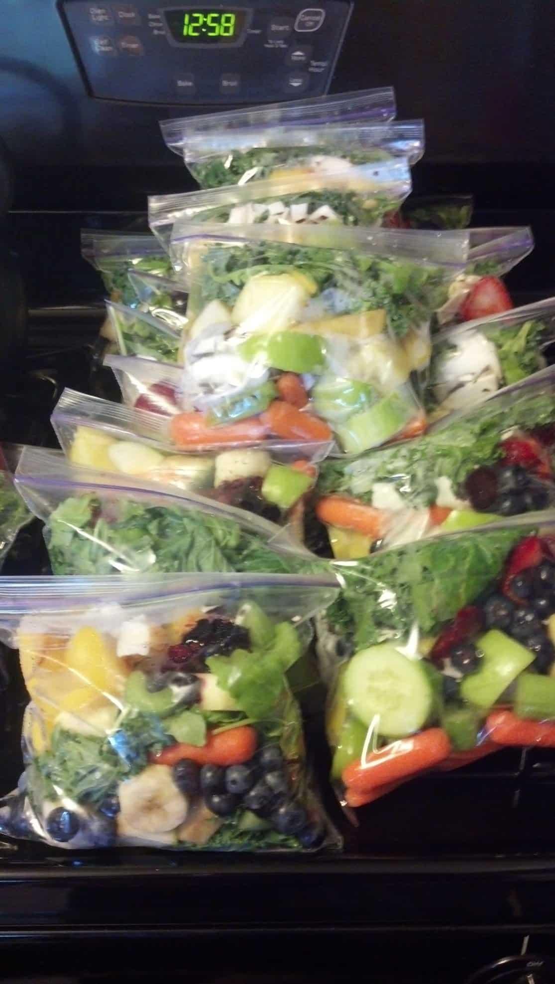 Make-ahead Green Smoothie Freezer Kits