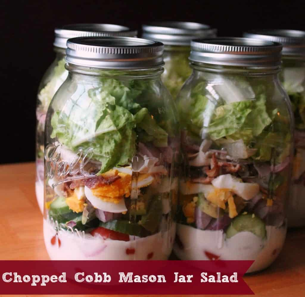 Chopped Cobb Mason Jar Salad
