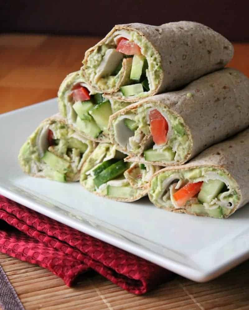 Turkey Wrap with a Delicious Creamy Chipotle Avocado Spread