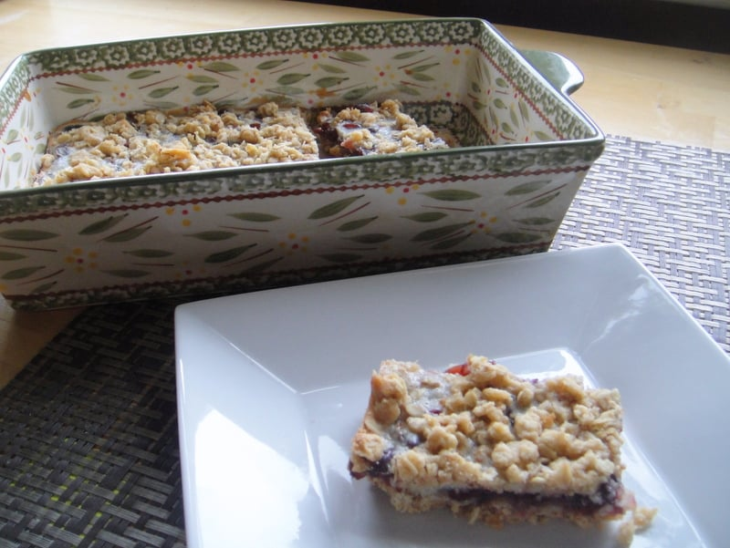 lemon cranberry oat bars