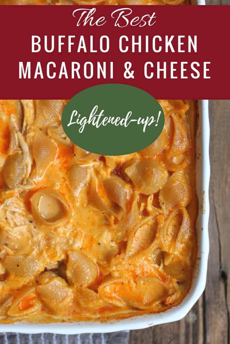 Buffalo Chicken Mac and Cheese {Lightened-up}