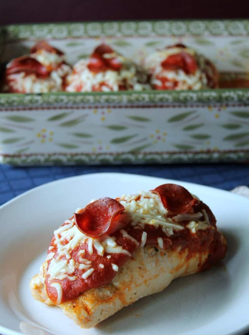 Pizza Stuffed Chicken Breasts - Organize Yourself Skinny