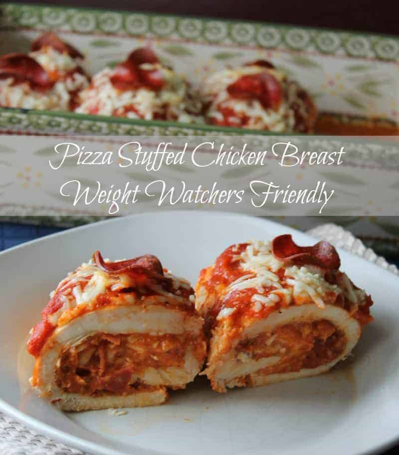 Pizza Stuffed Chicken Breasts Weight Watchers Friendly Recipe 5 points ...
