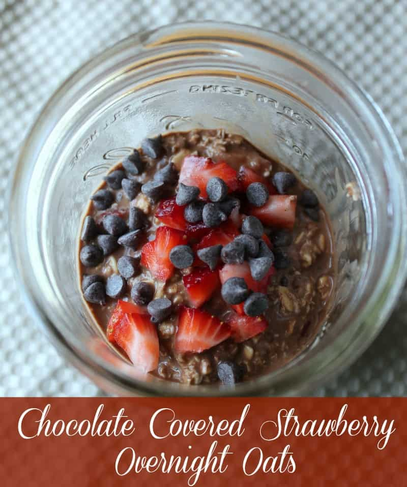 ... Strawberry Overnight Oats Oatmeal in a Jar - Organize Yourself Skinny