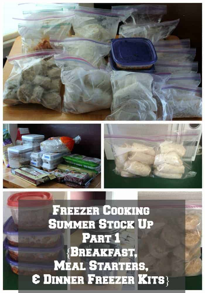 Freezer Cooking Summer Stock Up Part I {Breakfast, Meal Starters, & Dinner Freezer Kits}