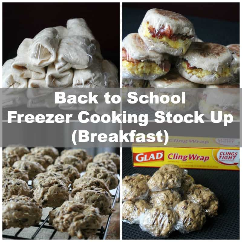 Back to School Freezer Cooking Breakfast Stock Up