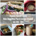 Make Ahead Meal Plan and Exercise Schedule July 14th