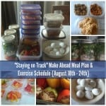 Staying on track make ahead meal plan and exercise schedule august august 18