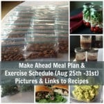 Make Ahead Meal Plan & Exercise Schedule August 25 - 31