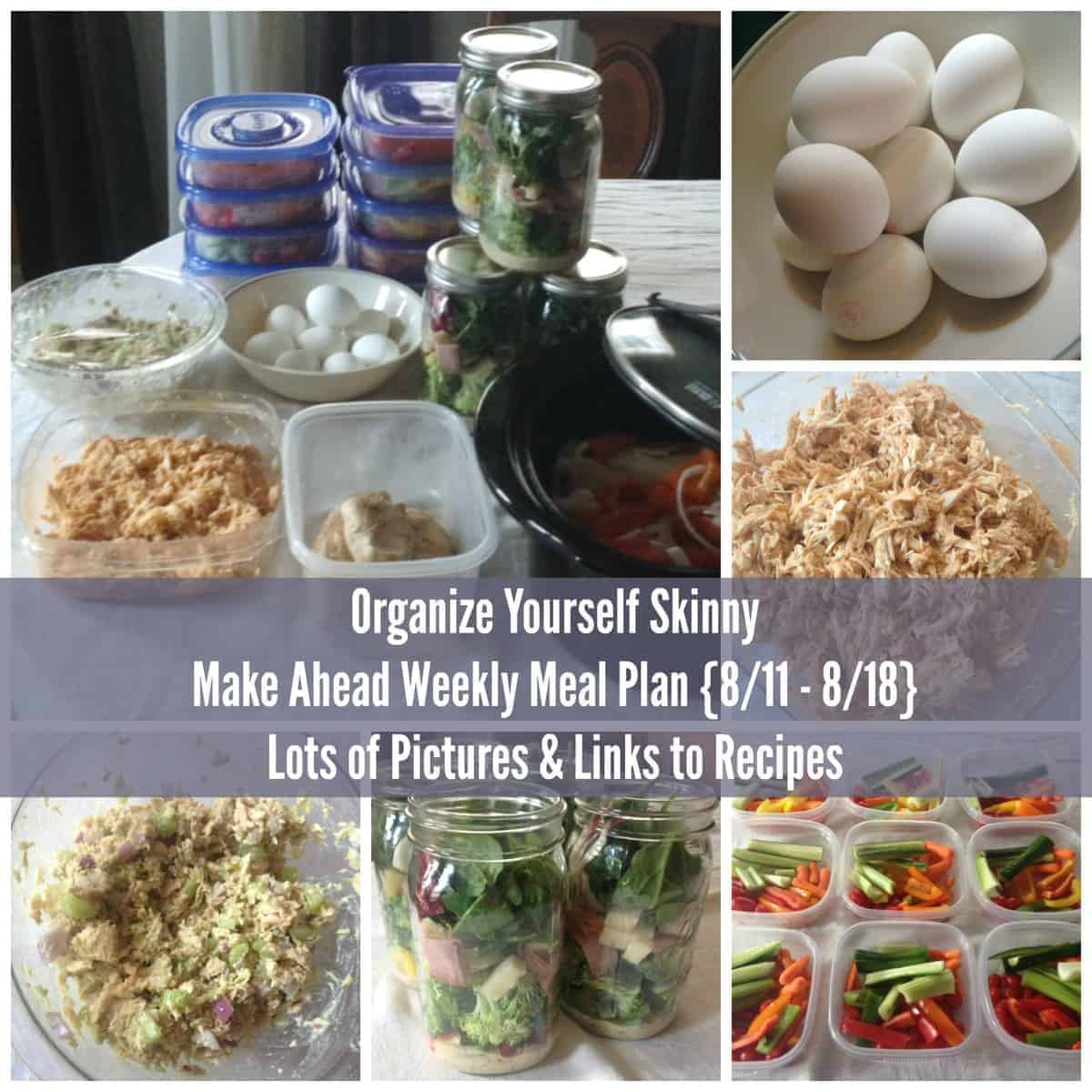 Make ahead meal plan and exercise schedule meal prep for the week