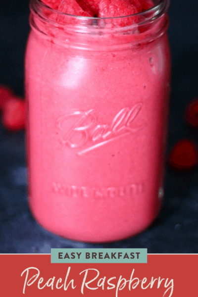 Peach Raspberry Superfood Smoothie