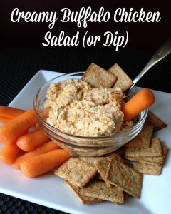 Lighter version of buffalo chicken dip or salad. 103 calories for 1/4 ...