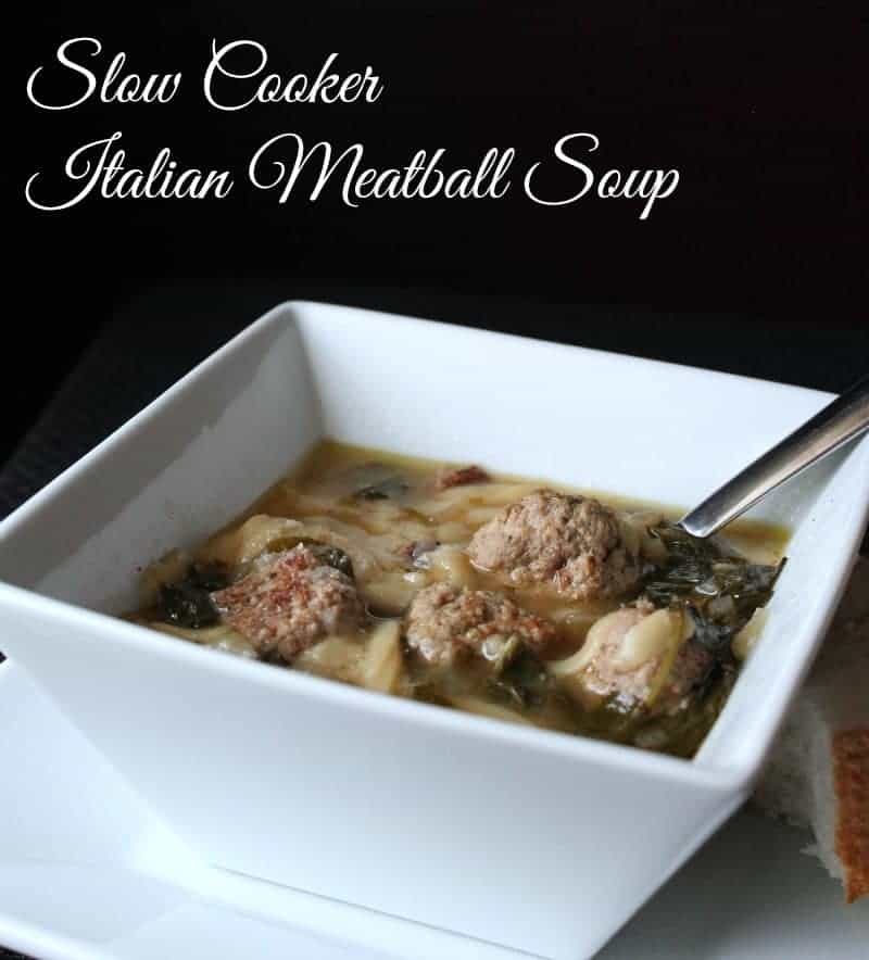 Slow Cooker Italian Meatball Soup 248 calories and 7 weight watchers points plus