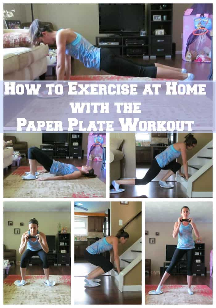 How to Exercise at Home with the Paper Plate Workout