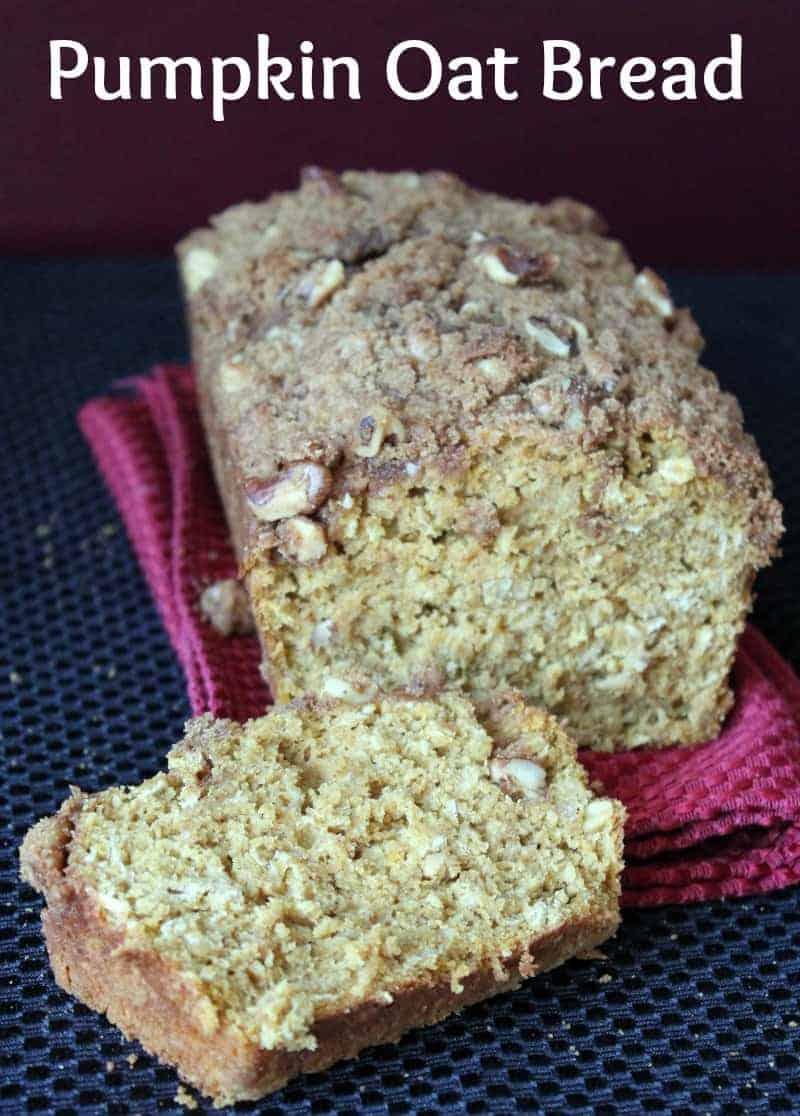 Pumpkin Oat Bread with Walnut Streusel Topping