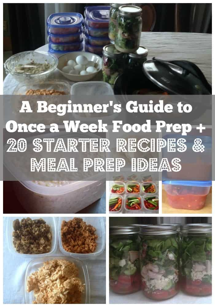 A Beginner's Guide to Once a Week Food Prep + 20 Starter Recipes and Meal Prep Ideas