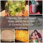 Make Ahead Menu Plan and Exercise Schedule {October 27th}