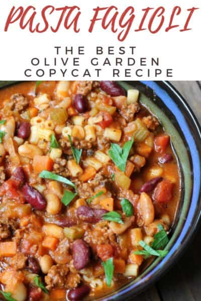 Pasta Fagioli {Copycat Olive Garden Recipe}
