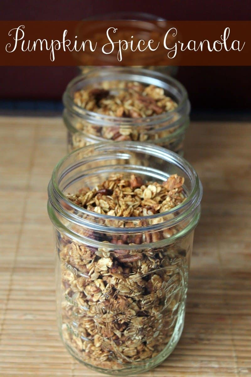 Pumpkin Spice Granola Recipe 167 calories and 4 weight watchers points ...
