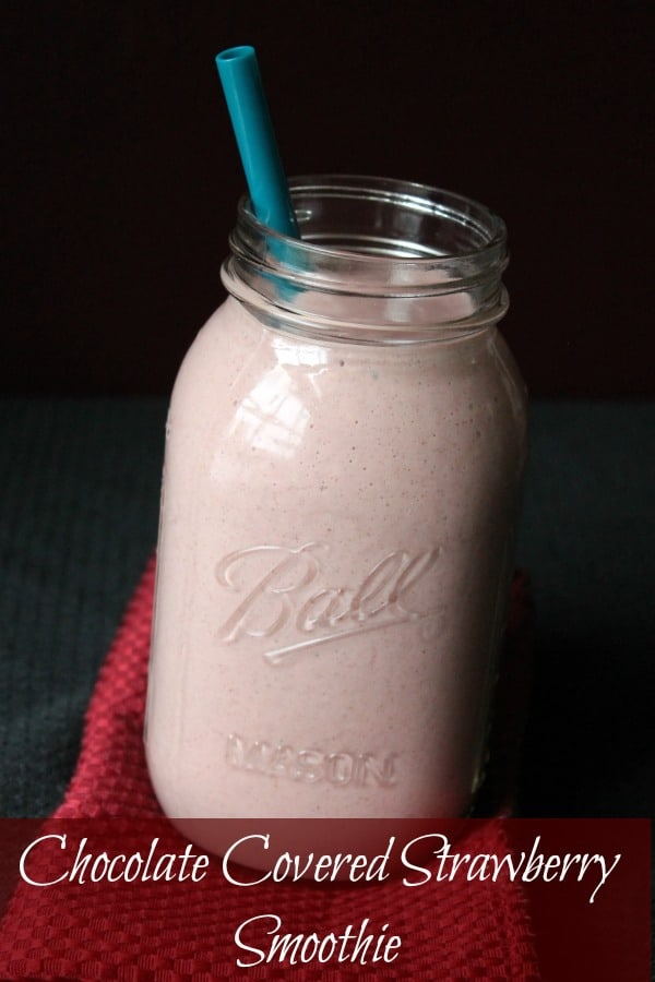 Chocolate Covered Strawberry Smoothie #lovingtofu