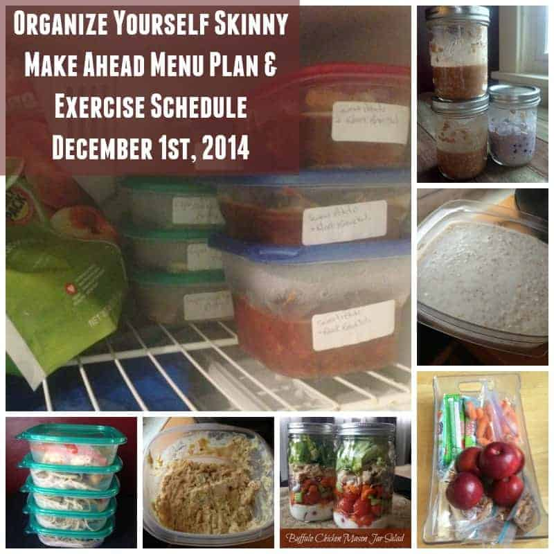 Make Ahead Meal Plan, Exercise Schedule, and Weigh In {Dec 1st}