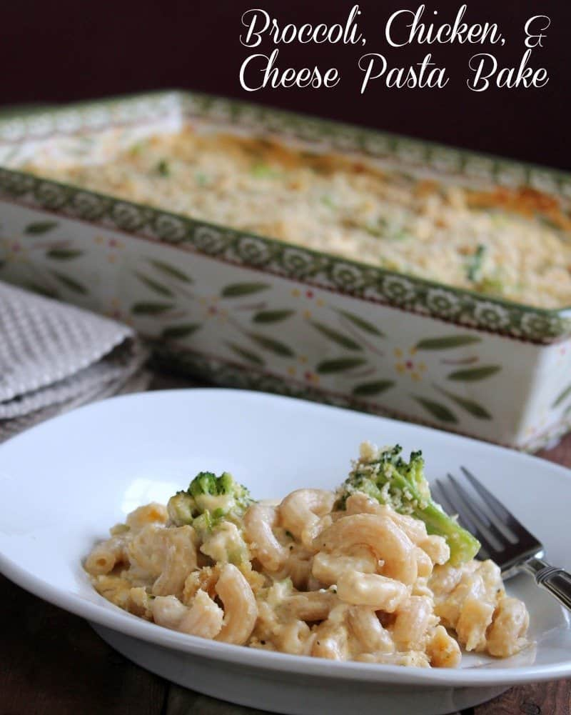 Broccoli, Chicken, and Cheese Pasta Bake