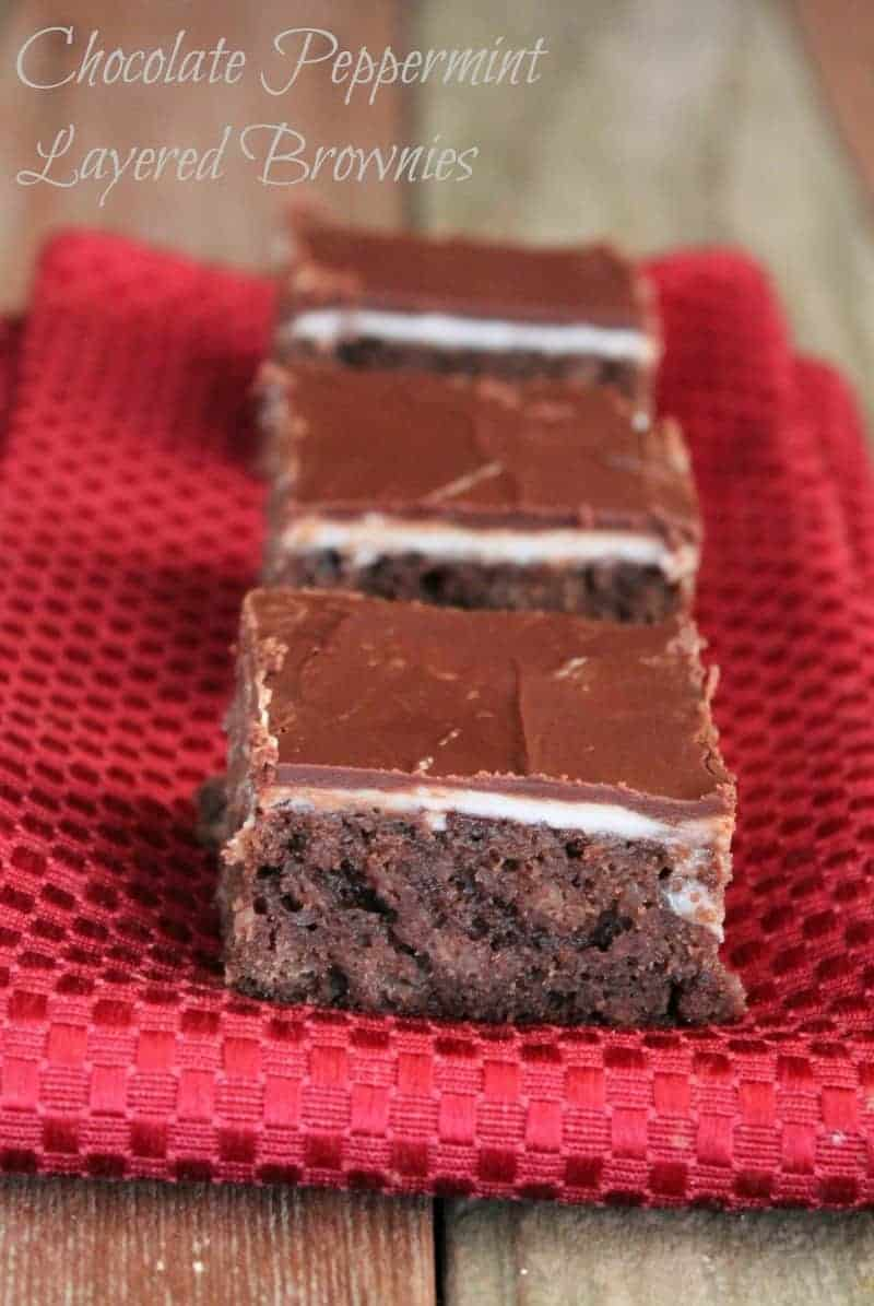 Chocolate Peppermint Brownie 185 calories and 5 weight watchers points