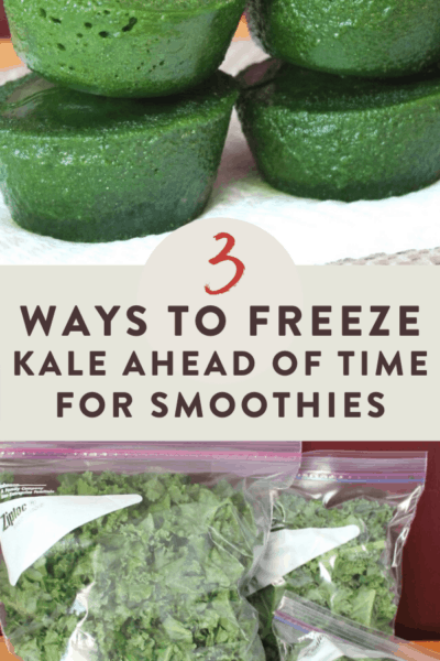 How to Freeze Kale For Green Smoothies and Other Recipes