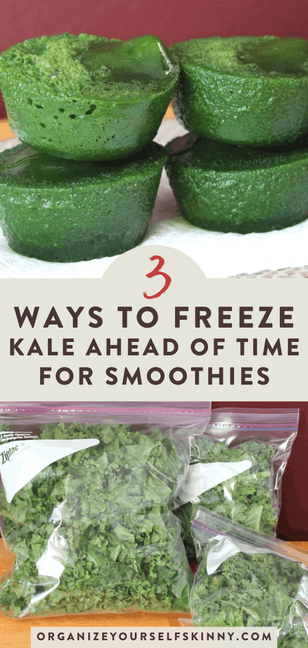 freezing kale