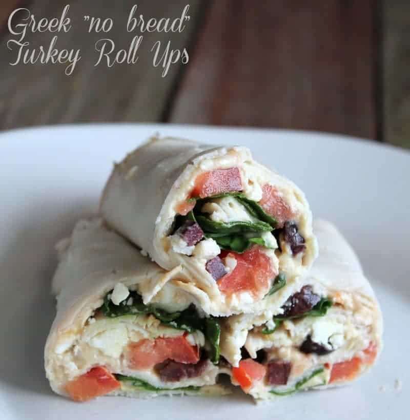 """low carb lunch Greek """"no bread"""" Turkey Roll Up 141 calories 3 weight watchers points plus"""